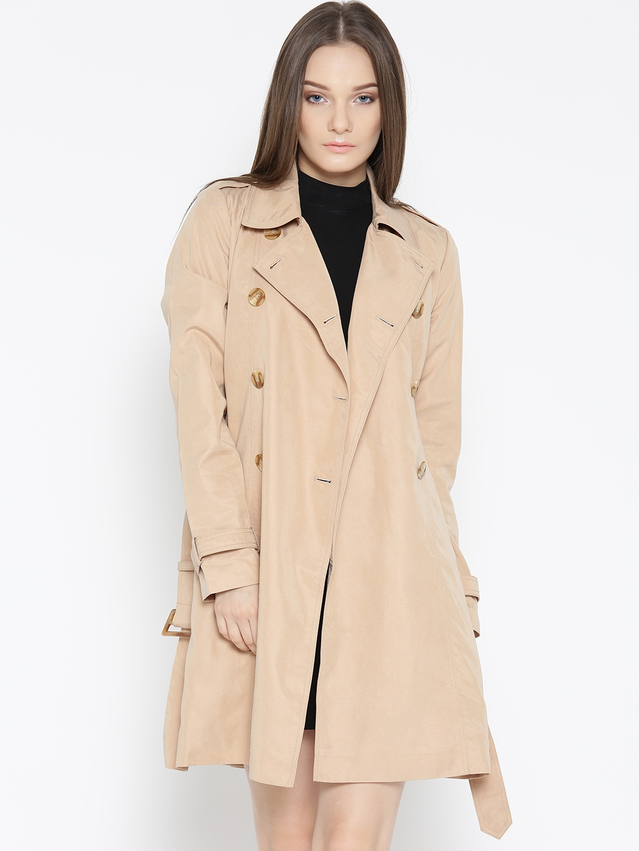 c611de0aaea Buy FOREVER 21 Beige Longline Trench Coat - Coats for Women 2057933 ...