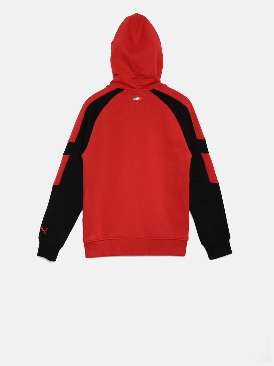 Buy Puma Boys Red   Black Ferrari Solid Hooded Sweatshirt ... 3c378bfc4