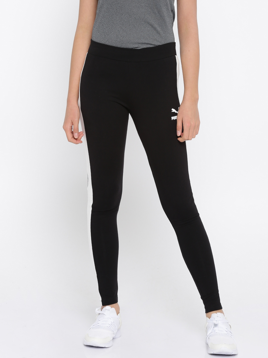 a62a9d1b1a266 Buy Puma Women Black Archive Logo T7 Tights - Tights for Women ...