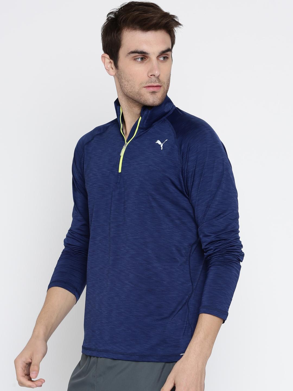 554da605902c Buy Puma Men Blue Solid Core Run LS HZ T Shirt - Tshirts for Men ...