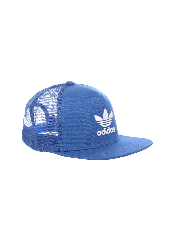 016c7d774d3 Buy ADIDAS Originals Unisex Blue TREFOIL Trucker Cap - Caps for ...