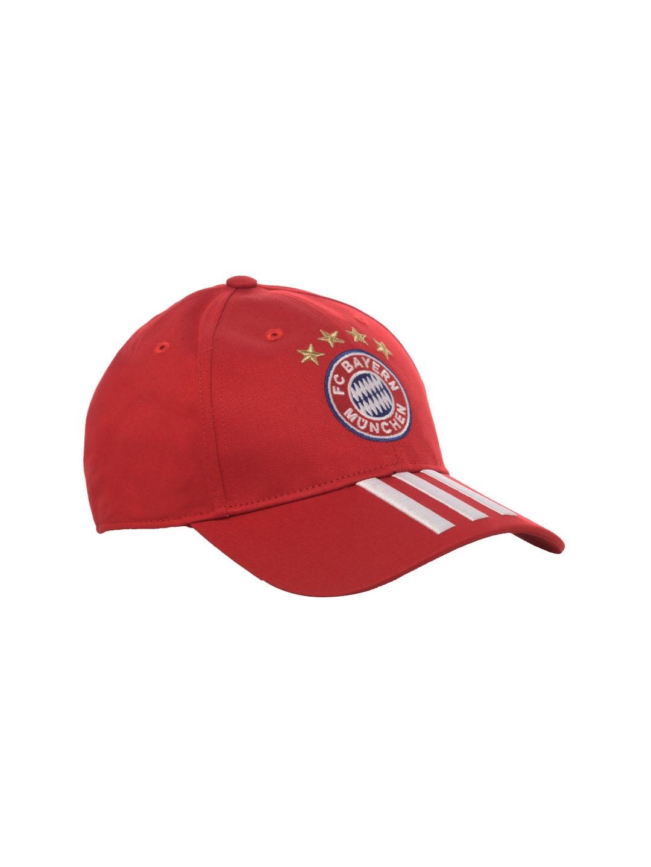 b3205d940036e Buy ADIDAS Unisex Red FC Bayern Munich 3 Stripes Cap - Caps for ...
