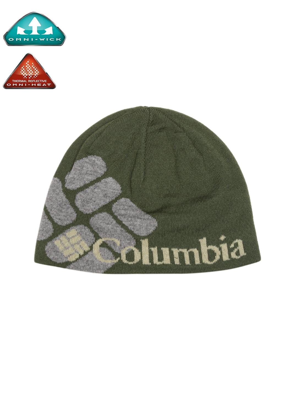 5807c622b66 Buy Columbia Unisex Olive Green   Grey Heat Patterned Beanie - Caps ...
