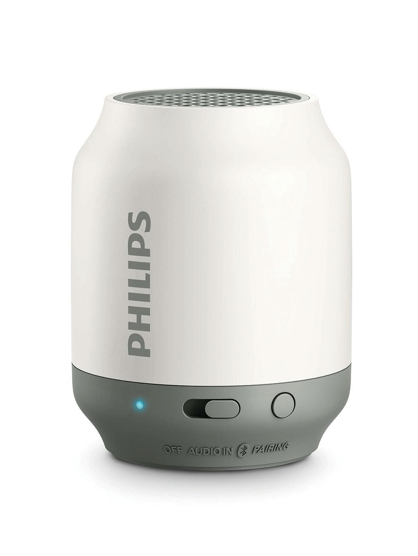 Philips White Bluetooth Portable Speaker