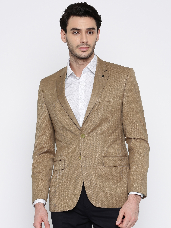 50e070b964b Buy Raymond Men Brown Solid Single Breasted Slim Fit Formal Blazer ...
