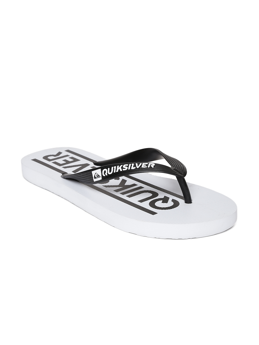 e589c92e00904e Buy Quiksilver Men Black   White Printed Flip Flops - Flip Flops for ...