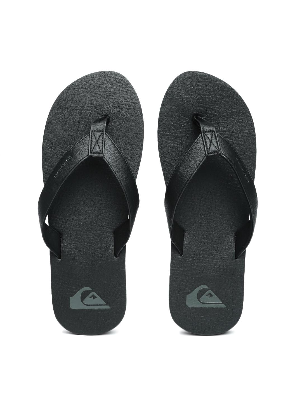 454f3c96d9f262 Buy Quiksilver Men Black Molokai Nubuck Leather Flip Flops - Flip ...