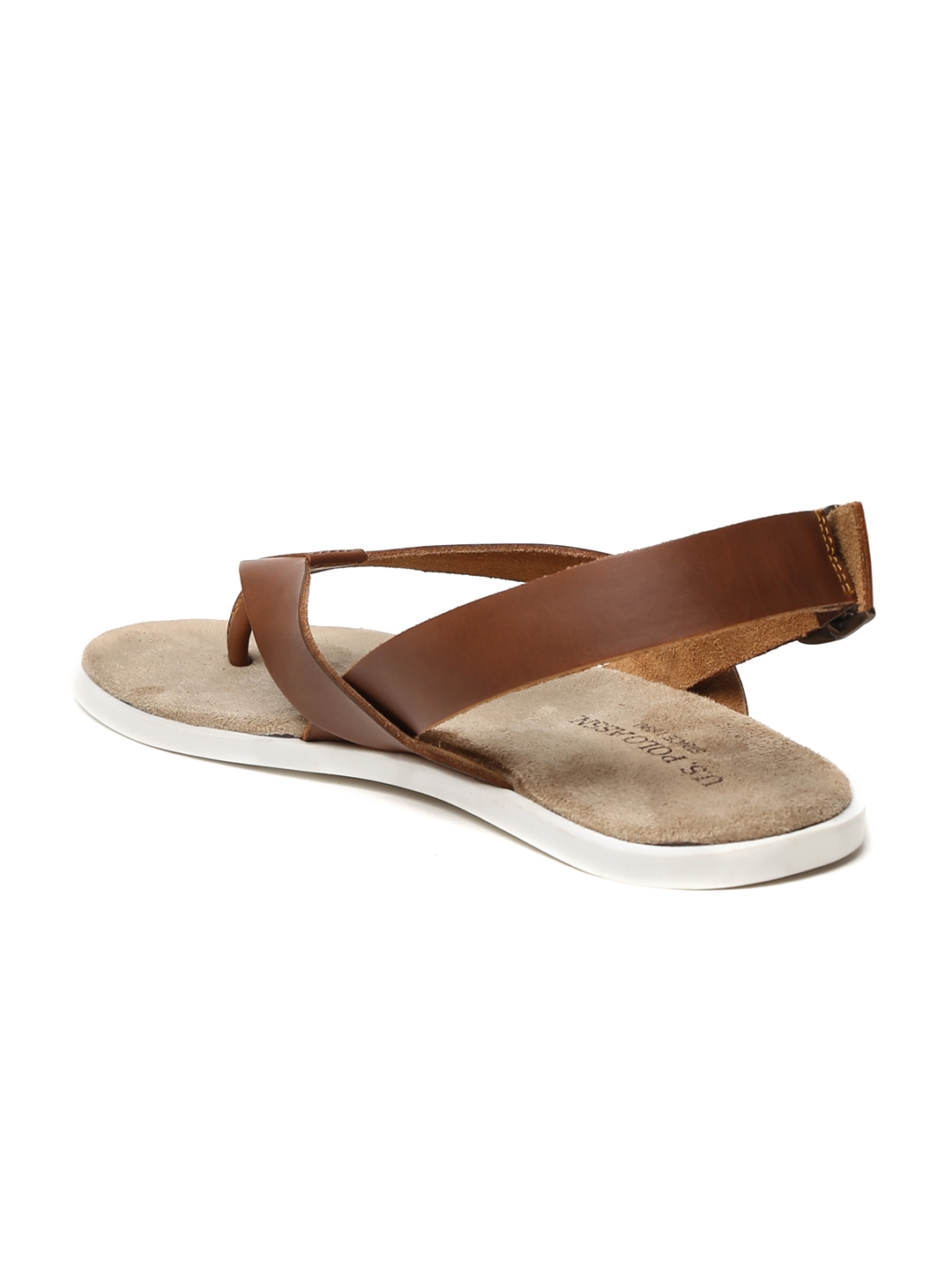f06cd3550fad Buy U.S. Polo Assn. Men Brown Gavin Leather Sandals - Sandals for ...