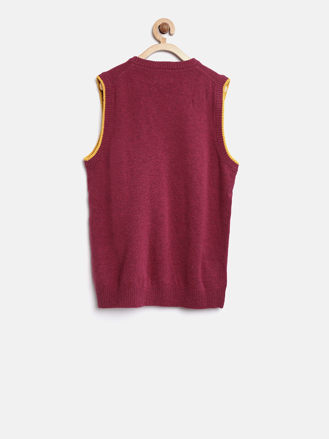 98bc581944ca Buy U.S. Polo Assn. Kids Boys Pink Solid Sweater Vest - Sweaters for ...