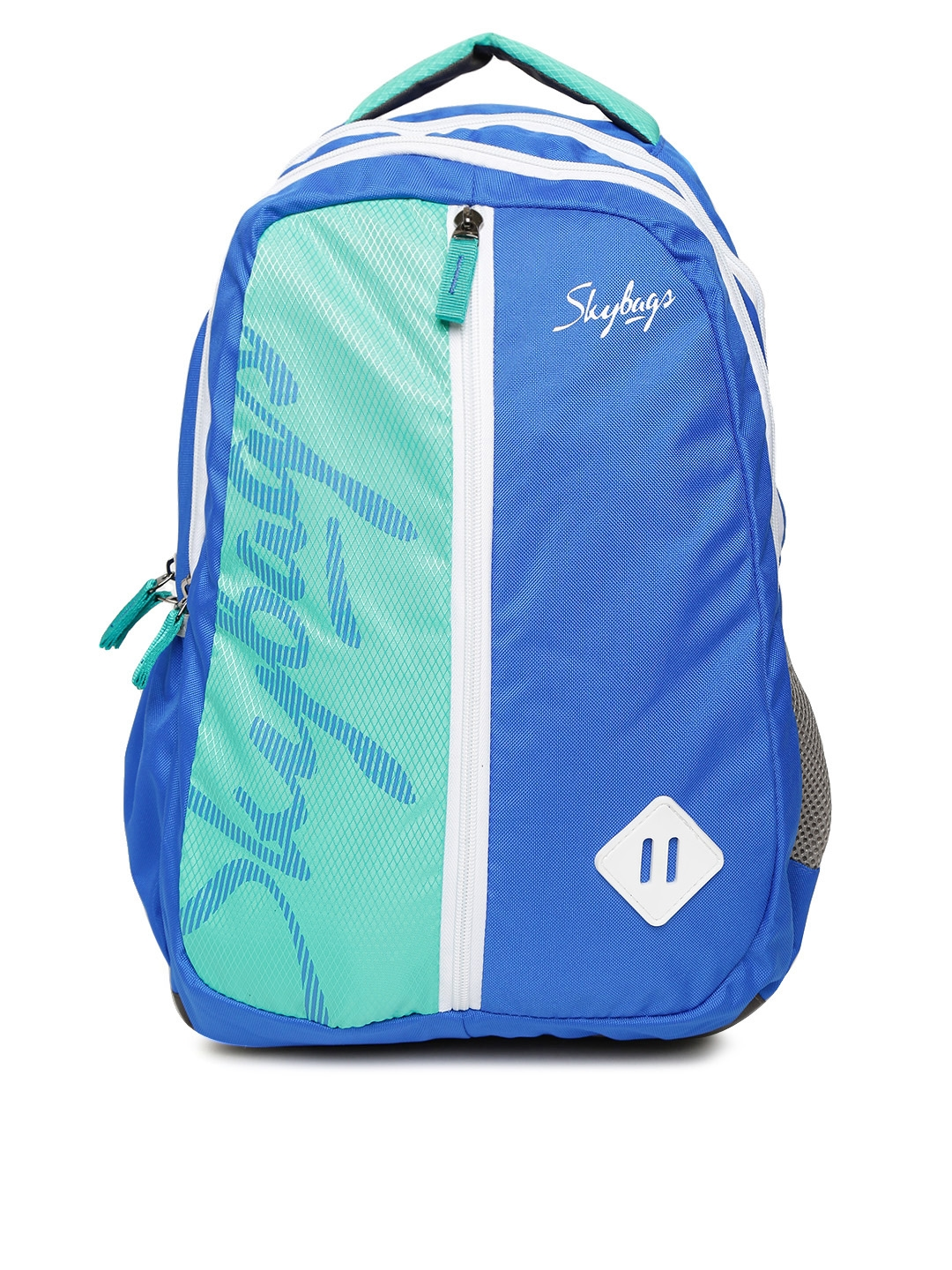 fb8d0af22533 Buy Skybags Unisex Blue   Sea Green Colourblocked Backpack ...
