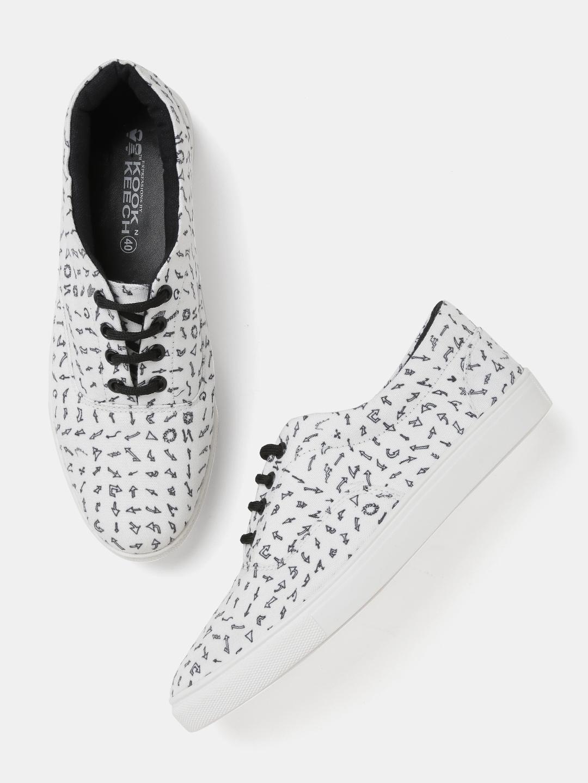 afd1df017 Buy Kook N Keech Women White Printed Sneakers - Casual Shoes for ...
