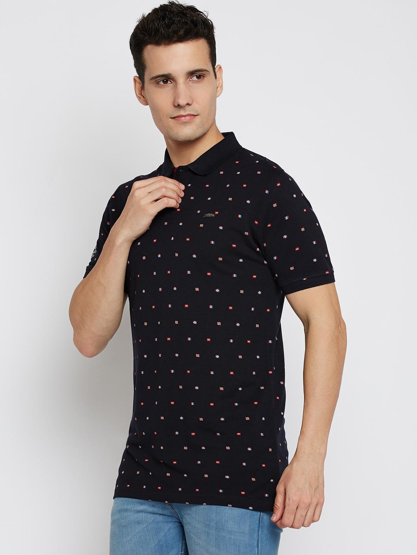 946796a32 Buy Lee Cooper Men Navy Blue Printed Polo Collar T Shirt - Tshirts ...