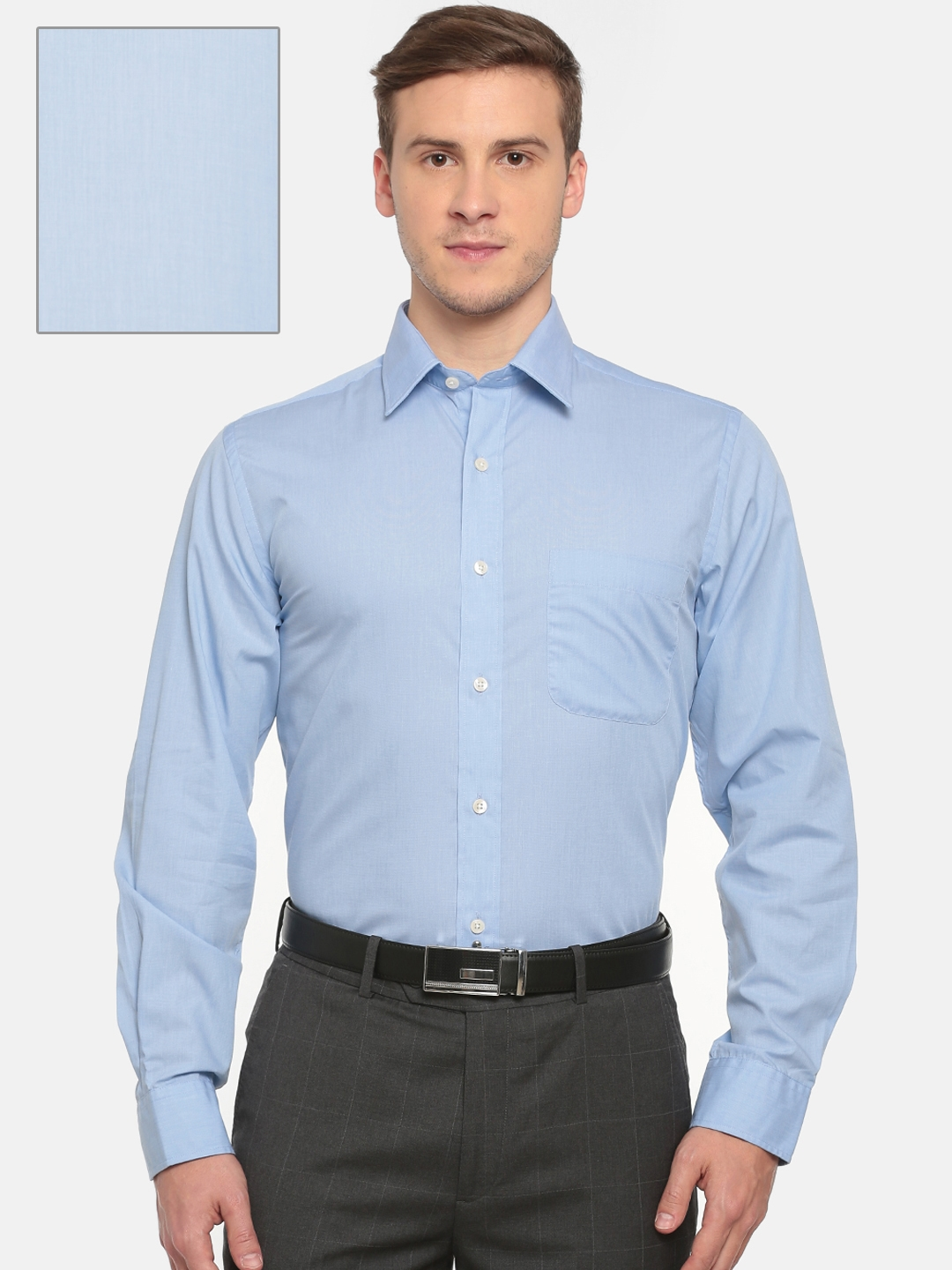 Arrow Men Blue Solid Formal Shirt