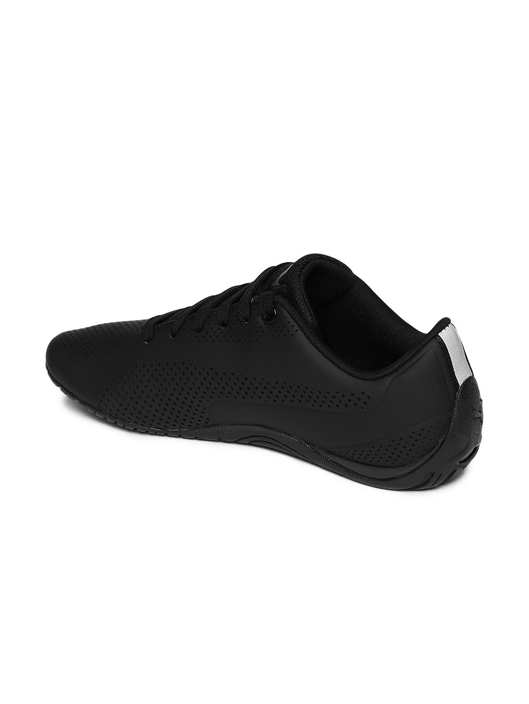 Buy Puma Unisex Black Perforated Drift Cat Ultra Reflective Sneakers ... 57b075eba