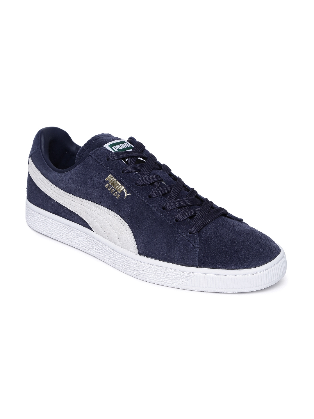 7ef626c1f8a0 Buy Puma Men Navy Blue Suede Classic Sneakers - Casual Shoes for Men ...