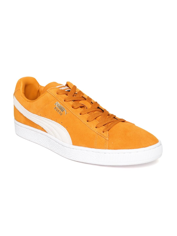 3616d91791e Buy Puma Men Mustard Yellow Suede Classic + Sneakers - Casual Shoes for Men  2081694