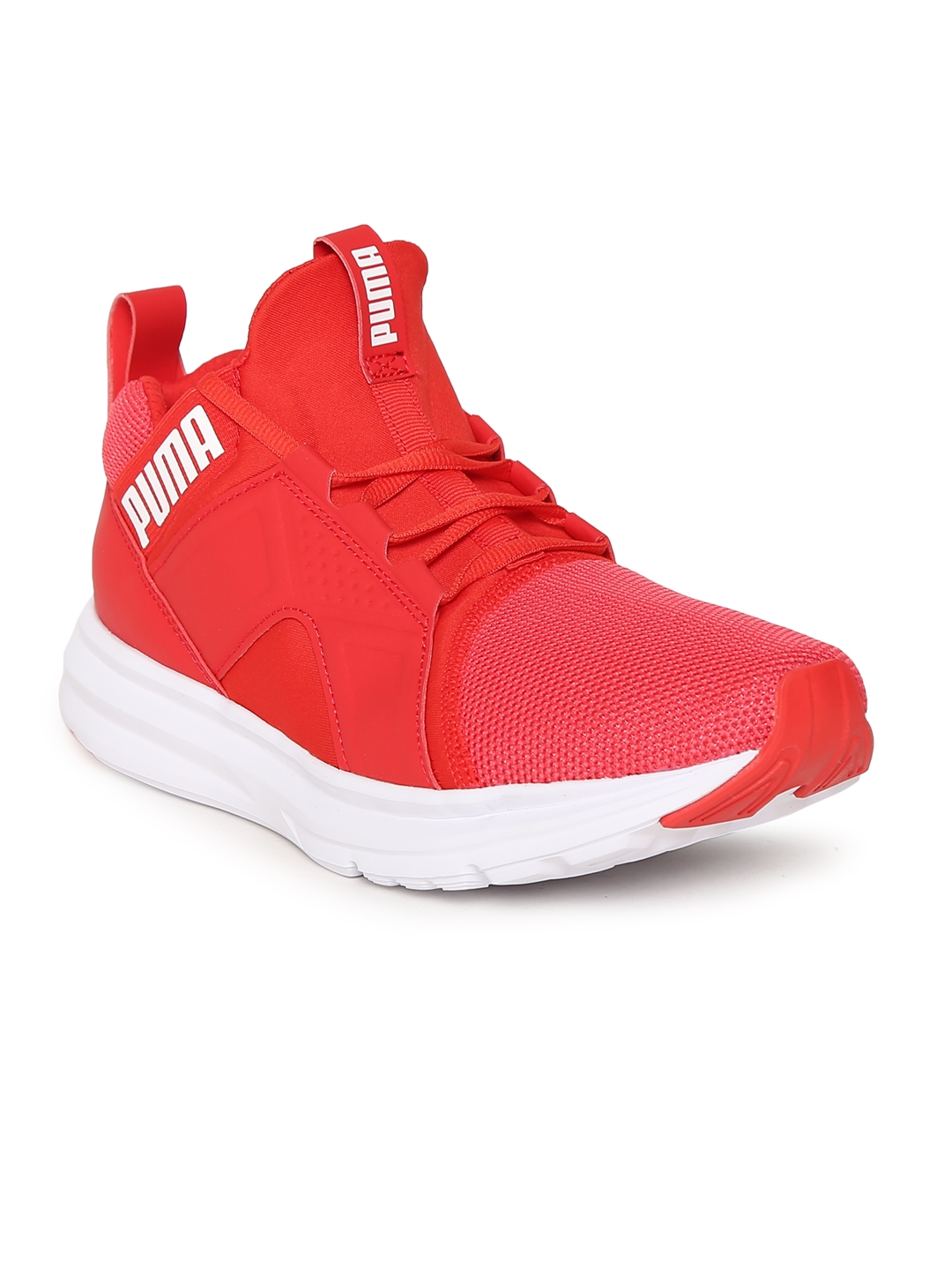 Buy Puma Women Red Enzo Mesh Running Shoes - Sports Shoes for Women ... 343047a7e