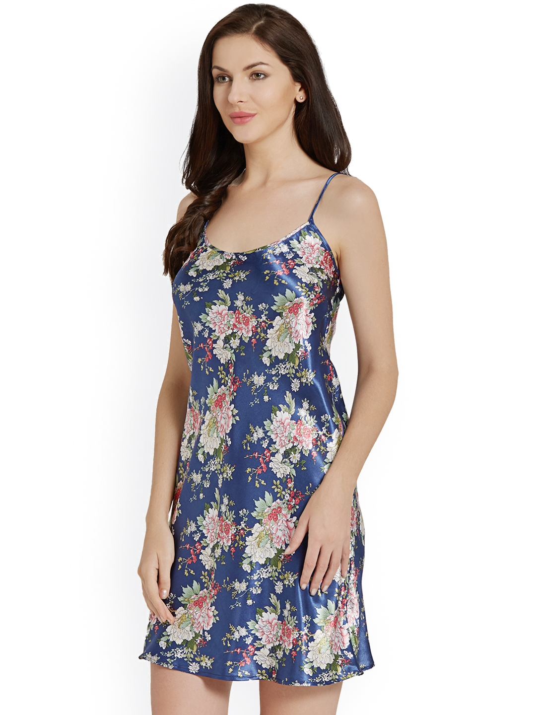 0dee912f9a1 Blush by PrettySecrets Blue Floral Print Chemise Nightdress PS0717SCSE20