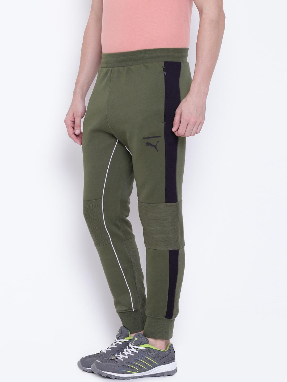 320ec1491d Buy Puma Men Olive Green Evo T7 Joggers - Track Pants for Men ...