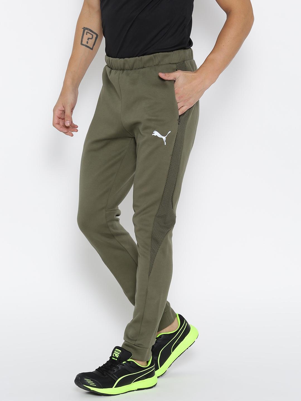 b49d735385 Buy Puma Men Olive Green Evostripe Ultimate Joggers - Track Pants ...
