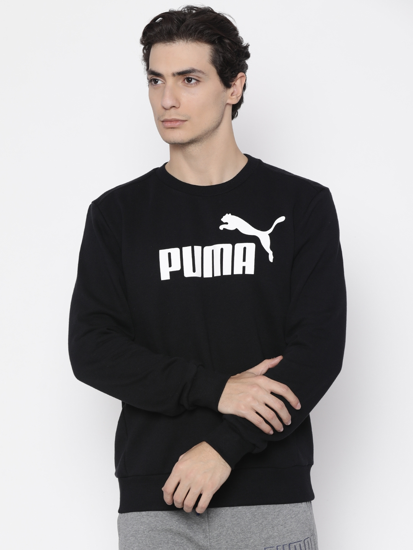 579c9f92cd Buy Puma Men Black Printed Sweatshirt - Sweatshirts for Men 2083026 ...