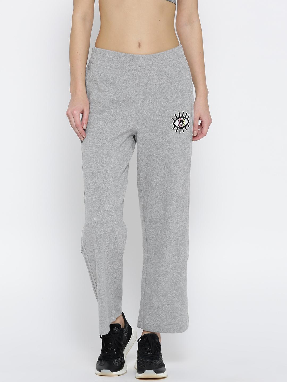 55e7d62d ADIDAS Originals Women Grey Melange Embellished Arts Sailor 7/8 Track Pants