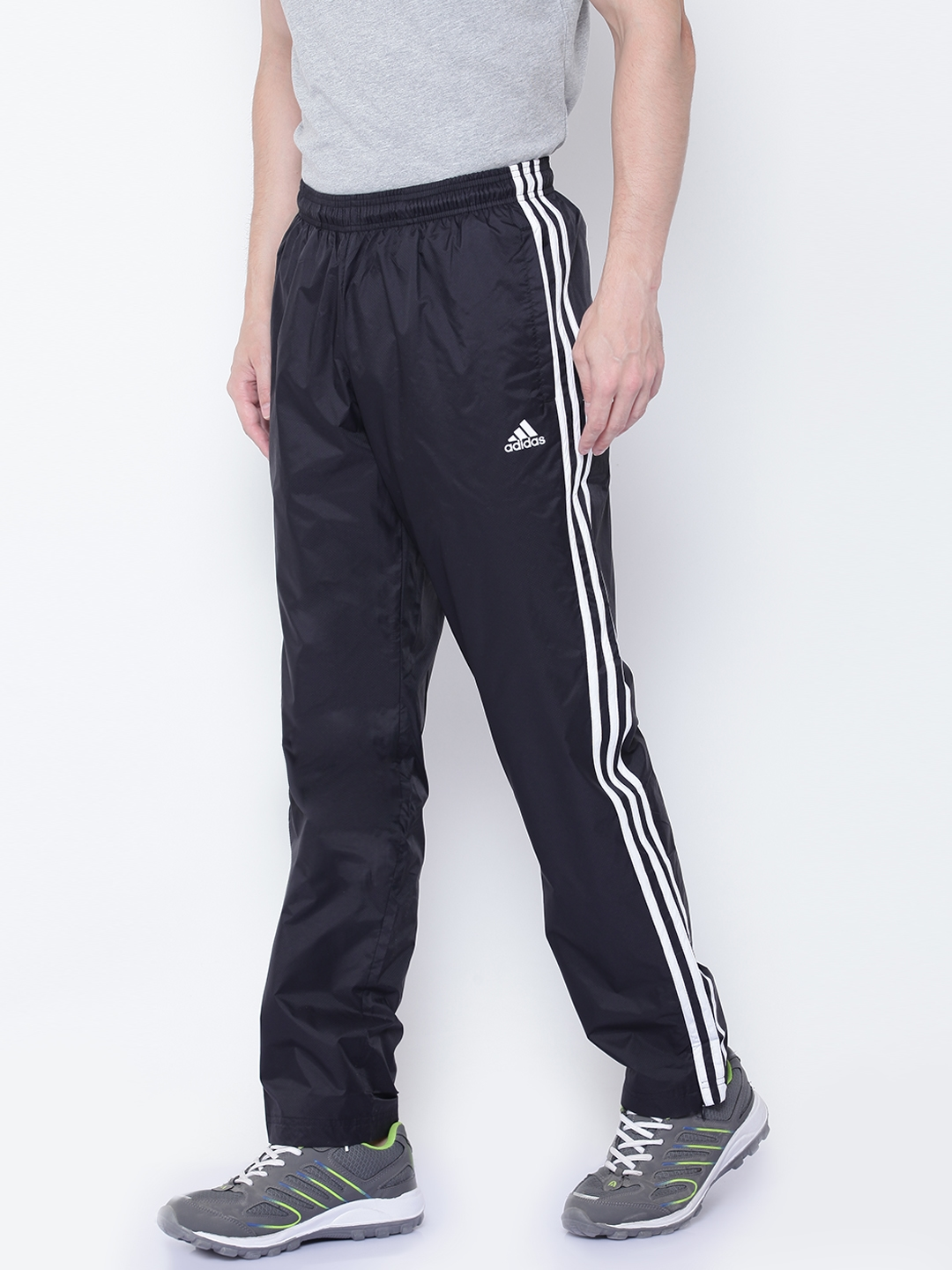 5107a9eb5073 Buy ADIDAS Men Black Essentials 3 Stripes Woven Track Pants - Track ...