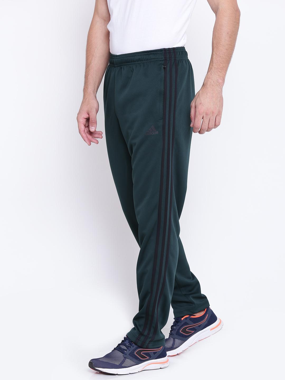 86bbdff39 Buy ADIDAS Men Green Essentials 3 Stripes TRICOT Track Pants - Track ...