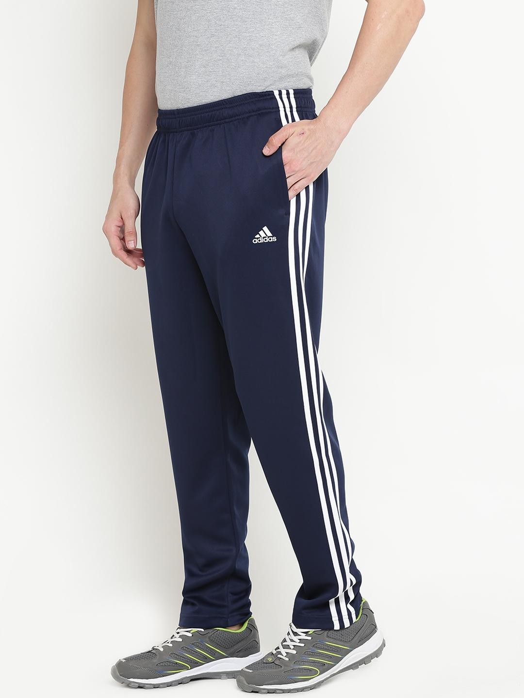 ad2bd1904 Buy ADIDAS Men Navy Essentials 3 Stripes TRICOT Track Pants - Track ...