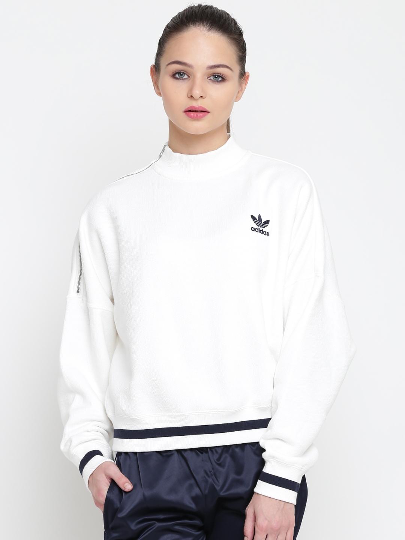 530f5d93172 Buy ADIDAS Originals Women White Solid Sweatshirt - Sweatshirts for ...
