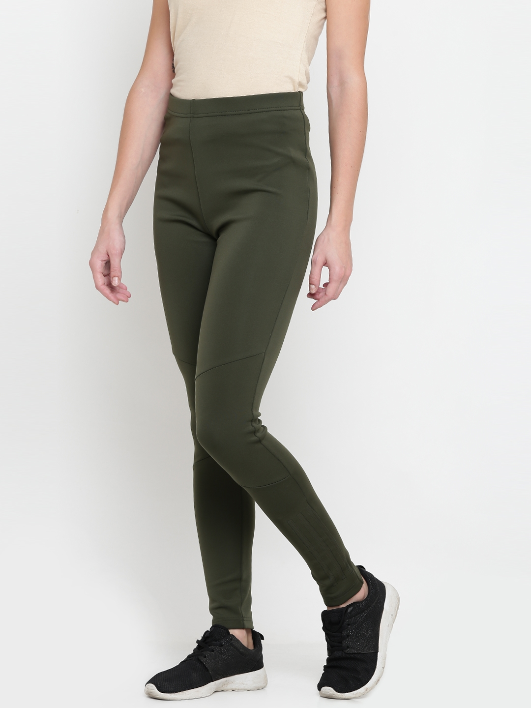 fb4375af98deb Buy ADIDAS NEO Olive Green UT Tights - Tights for Women 2083862 | Myntra