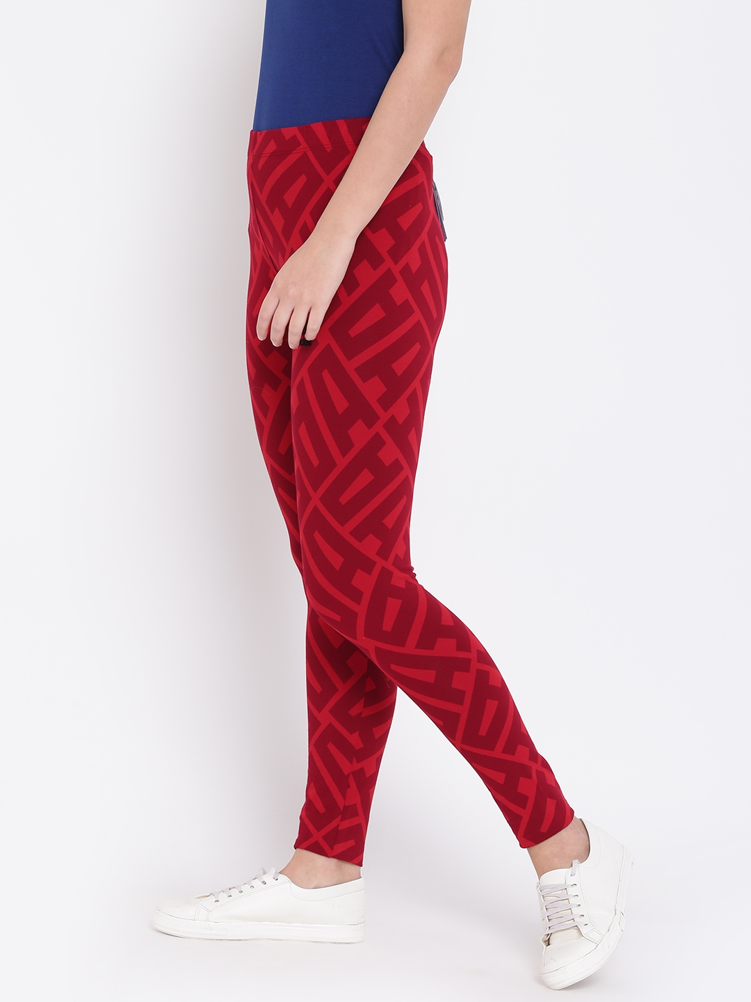08ae6876e00 Buy ADIDAS Originals Red All Over Print Printed Tights - Tights for ...