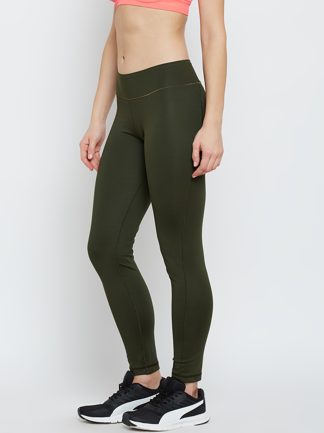 9ee093867c25a Buy Adidas Olive Green Women Long Tights - Tights for Women 2083880 ...