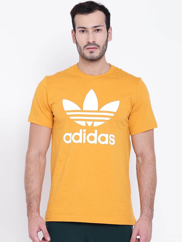 yellow adidas shirt mens