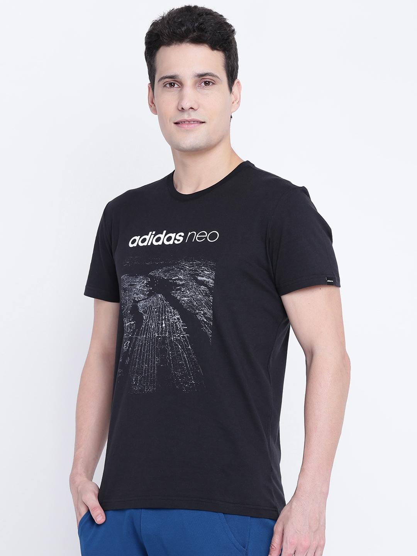 672dab7a879c Buy ADIDAS NEO Men Black CS CITY Graphic Printed T Shirt - Tshirts ...