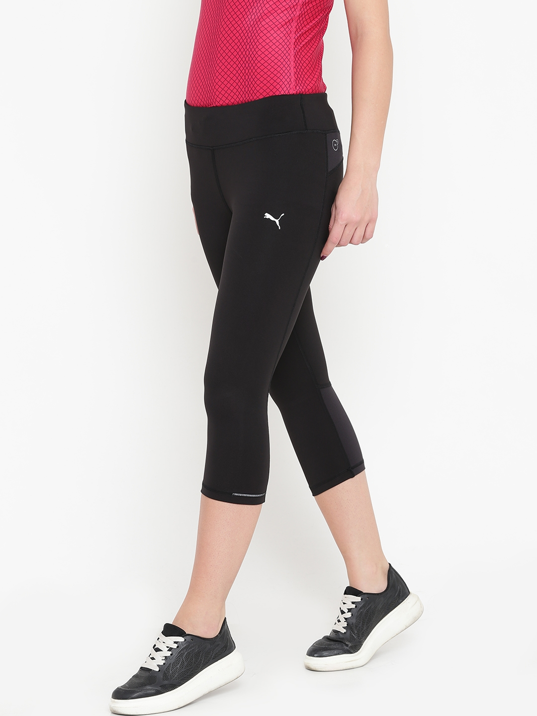 e6ecc871c940a Buy Puma Black Core Run 3/4 Tights - Tights for Women 2084490 | Myntra