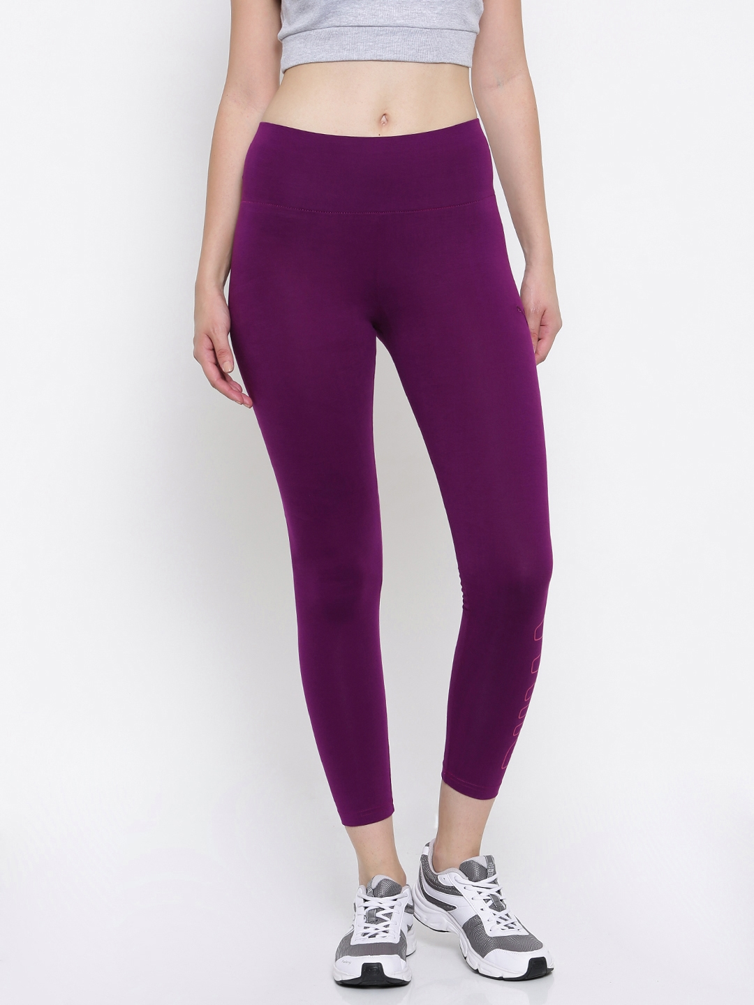 20248716e800 Buy Puma Women Purple ATHLETIC Leggings Tights - Tights for Women ...