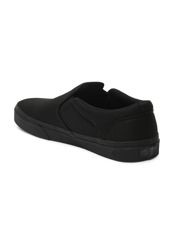 3357e1269d Buy Vans Men Black Asher Slip On Sneakers - Casual Shoes for Men ...