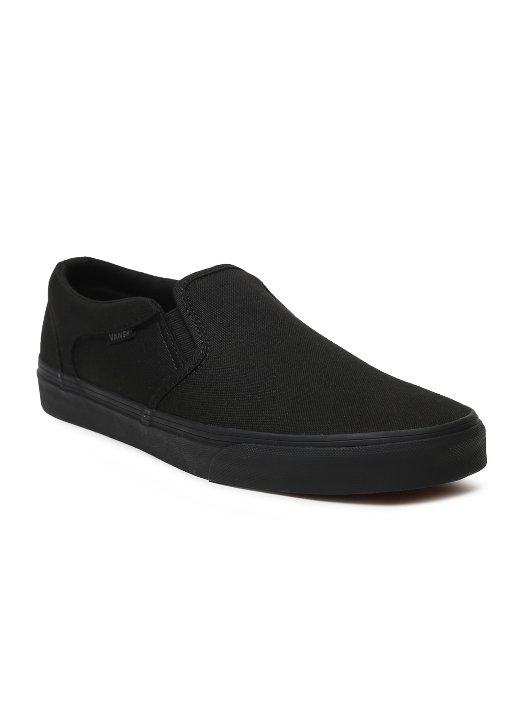 18ca2aa5e2a3ac Buy Vans Men Black Asher Slip On Sneakers - Casual Shoes for Men ...