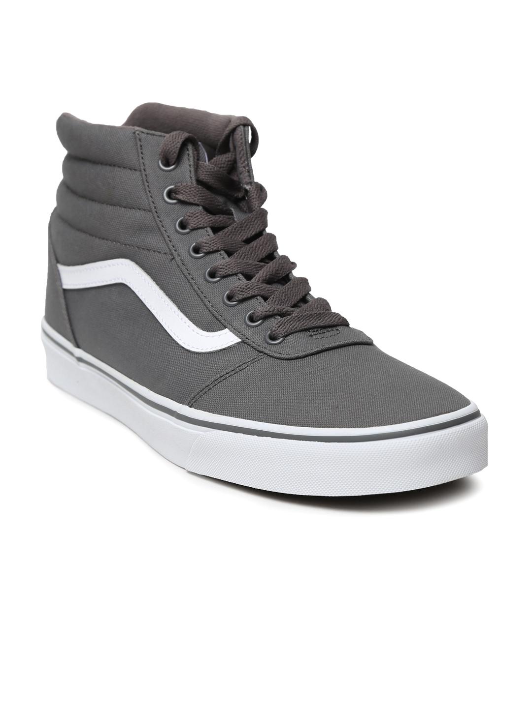 4d4f1f447d Buy Vans Men Grey Solid Ward Hi High Top Sneakers - Casual Shoes for ...