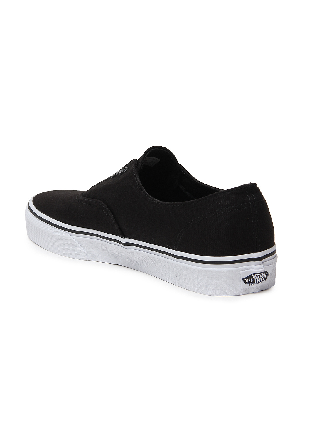 6ee00be7e4 Buy Vans Unisex Black Authentic Gore Slip On Sneakers - Casual Shoes ...