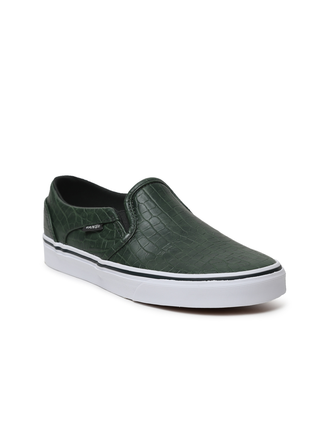 Buy Vans Women Green Asher Textured Slip On Sneakers - Casual Shoes ... 4e1697546