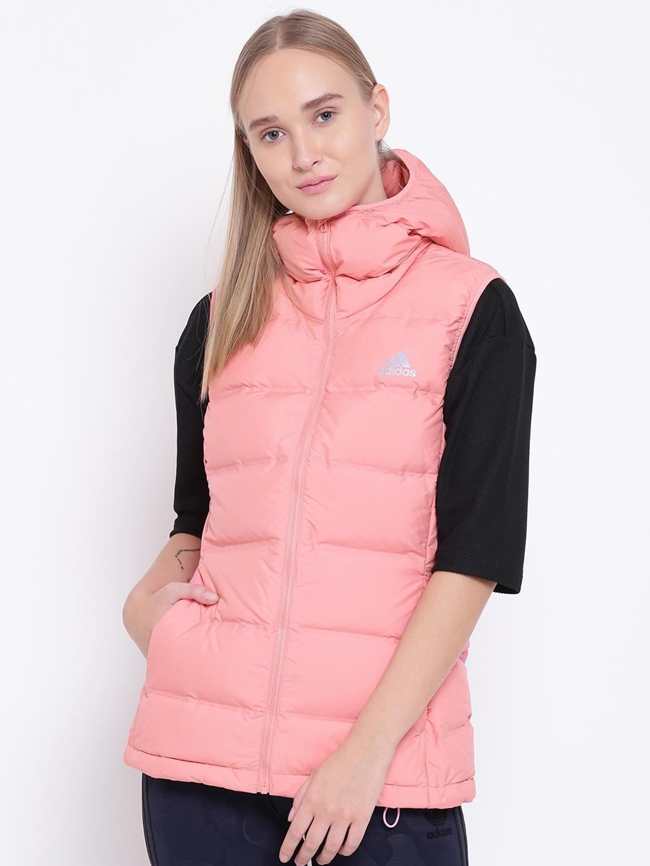 c874d67fe2ed Buy ADIDAS Women Peach Coloured Helionic Vest Puffer Jacket - Jackets for  Women 2085678