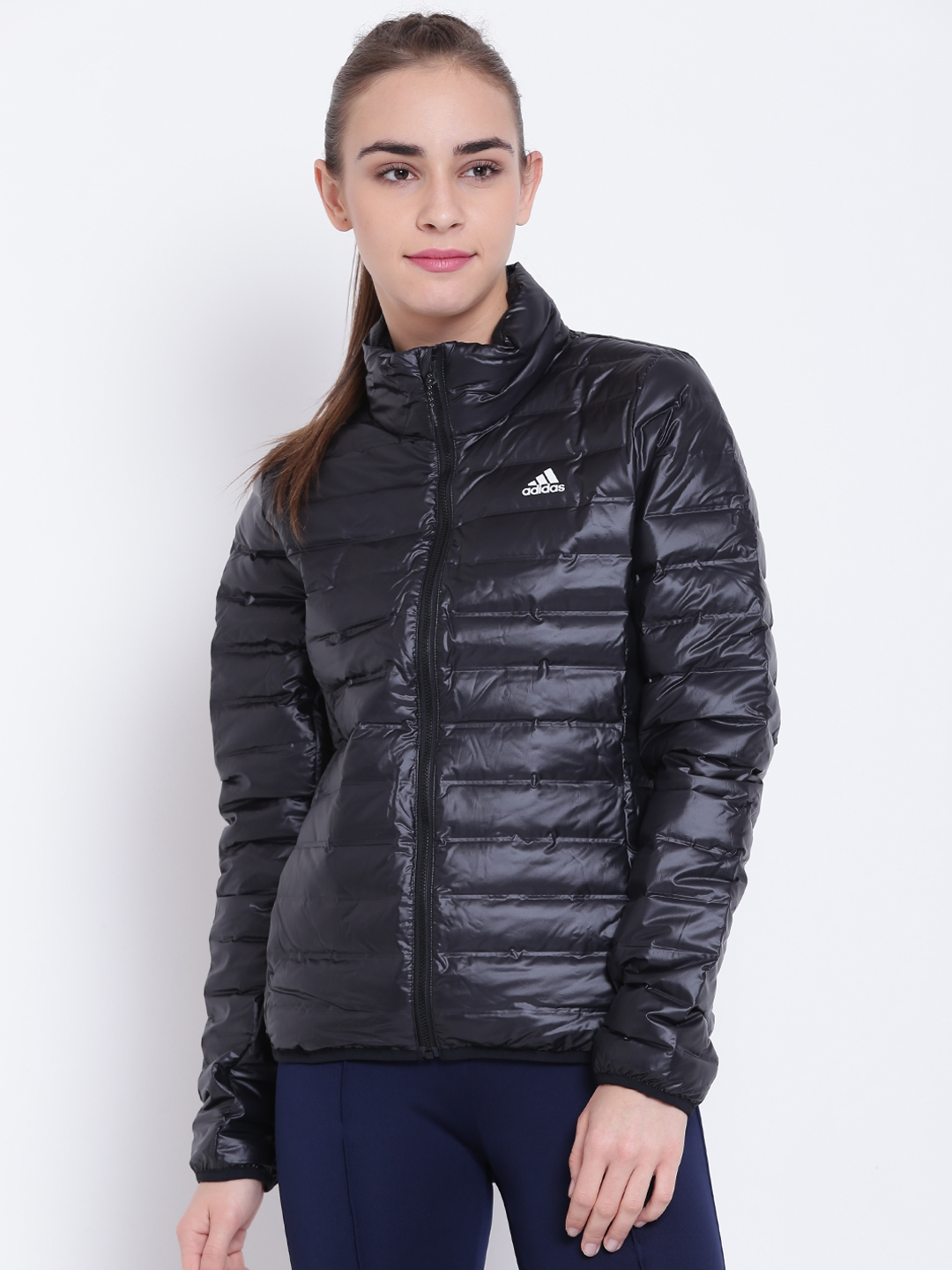 9caeaa84326a Buy ADIDAS Women Black Varilite Solid Puffer Jacket - Jackets for ...