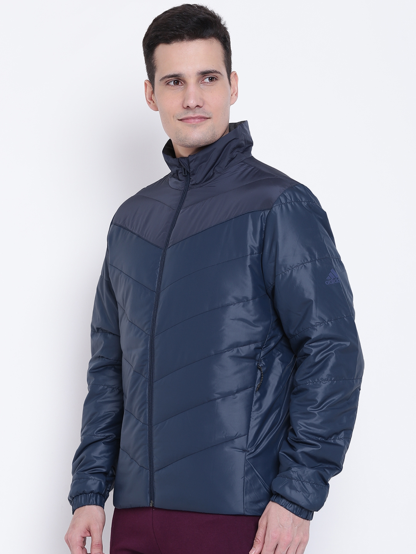 a5e7a6f0e374 Buy ADIDAS Men Navy Blue CYTINS BC Padded Sporty Jacket - Jackets ...