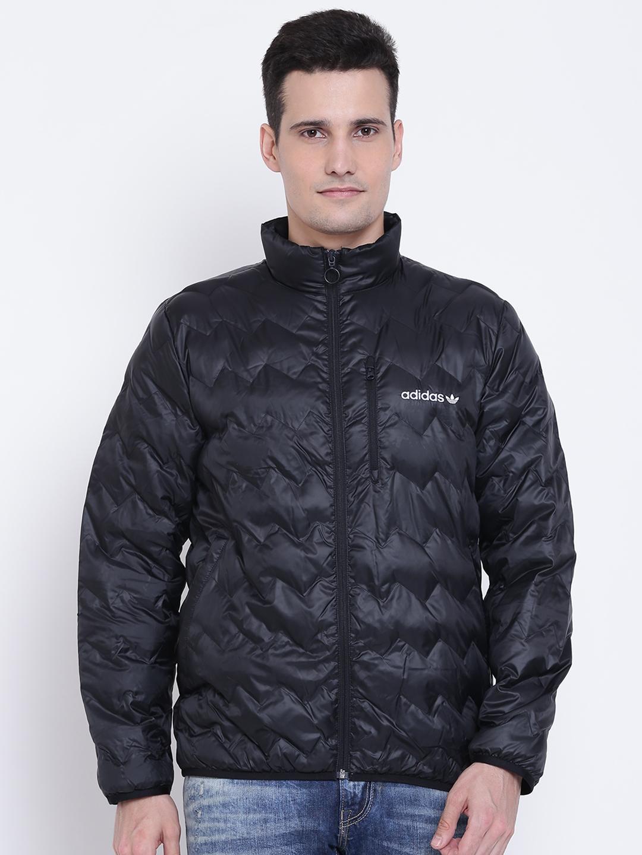 reputable site c9132 83bc6 Buy ADIDAS Originals Men Black SERRATED Solid Padded Jacket ...