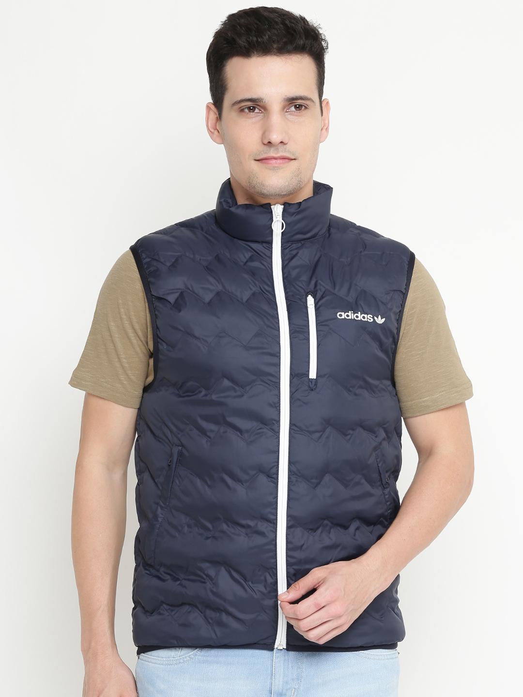 lowest price 4bcb3 5e466 ADIDAS Originals Men Navy SERRATED Vest Solid Quilted Jacket