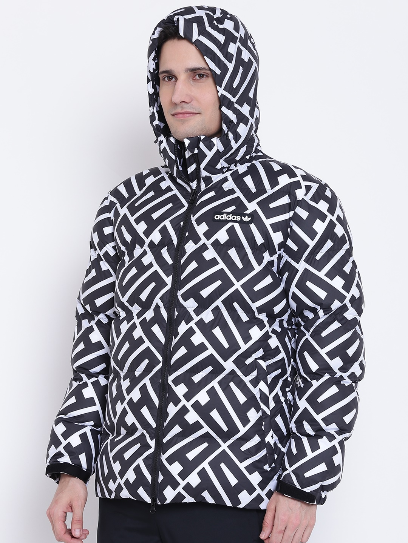 538ccf8b3d Buy ADIDAS Originals Men Black All Over Print Printed Hooded Puffer ...