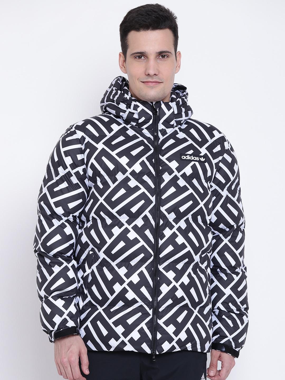 d888a1b9115 Buy ADIDAS Originals Men Black All Over Print Printed Hooded Puffer ...