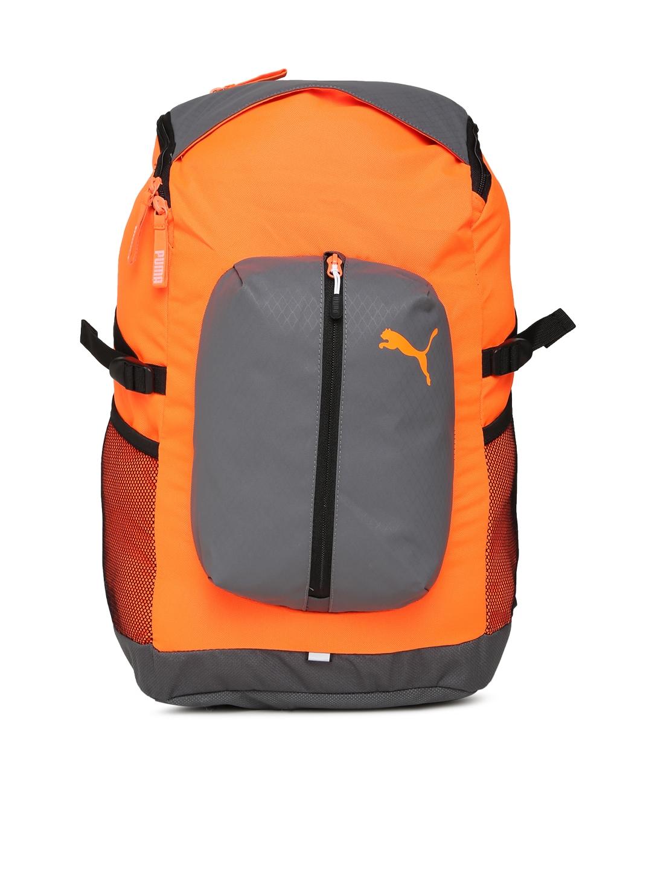 65d6b9dfb18e Buy Puma Unisex Orange   Grey Apex Colourblocked Backpack - Backpacks for  Unisex 2088555